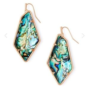 NEW Kendra Scott Emilia RG Abalone Shell Earrings
